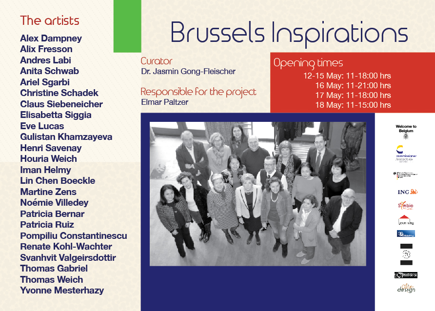 "Flyer for the exhibition ""Brussels Inspirations"""